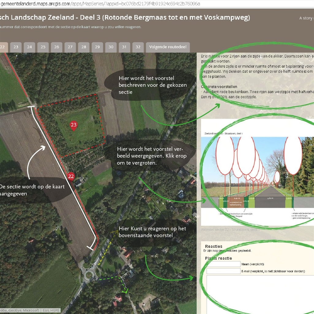 Inrichting Landschap van allure Maashorst via interactieve website